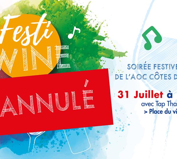 Festi Wine le 31 juillet à Boudes – ANNULE