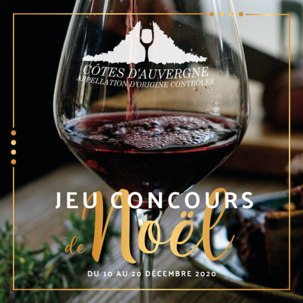 Participez à notre jeu concours de Noël de l'AOC Côtes d'Auvergne!